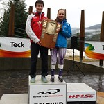 Parsons SG Overall Winners - Kristina Natalenko (Grouse Tyee Ski Club) & Kyle Alexander (Whistler Mountain Ski Club) PHOTO CREDIT: Davis Jevning
