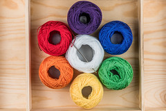 Choose your colour (Muhammad Al-Qatam) Tags: life wood blue red orange white macro green wool thread yellow still nikon purple sewing needle string kuwait kuwaitcity 105mmf28gvrmicro d810 alqatam malqatam muhammadalqatam