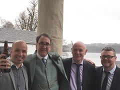 Scott Anthony Rob Gary (reds on tour) Tags: wedding sky people men water outdoors scotland anthony kinlochard altskeith