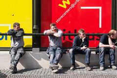 Men (Streetphotography by Joost Smulders) Tags: city portrait people urban holland color men relax utrecht candid relaxing nederland streetphotography portret stad mensen mannen kleur coulor zitten relaxen straatfotografie