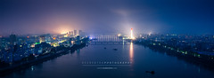 Night view of Pyongyang City, North Korea (reubenteo) Tags: city travel building night lights asia communism kimjongil exotic metropolis socialism northkorea pyongyang dprk juche kimilsung kimjongun