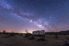 Camping under the Milky Way (slworking2) Tags: california camping us unitedstates desert nighttime nightsky trailer anzaborrego rv camper ocotillo milkyway borregosprings anzaborregodesertstatepark