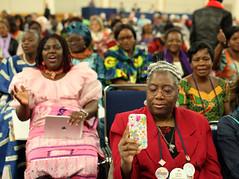 African Central Conferences worship service. (United Methodist News Service) Tags: africa oregon portland worship technology unitedstates gc2016