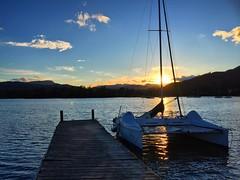 Lake Windermere Sunset (Marc Sayce) Tags: park lake mountains boats district jetty hills national cumbria catamaran ambleside