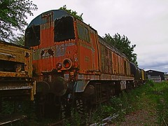 French CFD 2001, (ex BR 20035) out of service, since return from France. Colne Valley Railway, Essex. 09 06 2013JPG (pnb511) Tags: abandoned rust peeling paint track diesel decay engine rusty rail railway loco trains locomotive cfd class20