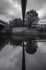 Just another pipe dream, Birmingham (Sean Hartwell Photography) Tags: england urban blackandwhite reflection industry water monochrome mirror canal birmingham industrial pipes innercity westmidlands inustrial 1122mm fazeley birminghamfazeley canoneosm3