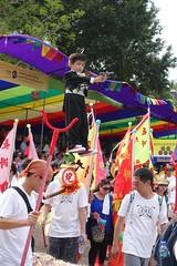 Little gangster (MFinChina) Tags: boy festival hongkong gun parade tuxedo pointing cheungchau bunfestival floatingcolors