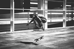 Skater (-Andi) Tags: street city trip travel viaje boy shadow portrait urban bw espaa white man black blanco sport canon calle jump movement spain moody retrato negro young ciudad sombra movimiento deporte skater salto urbano trick chico hombre joven truco eos70d