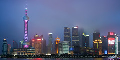 Shanghai Pudong Skyline (xiaoping98) Tags: china skyline night cityscape shanghai pudong