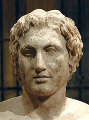 The Azara herm,  a Roman copy of a bust of Alexander the Great that was almost certainly made by the Greek sculptor Lysippus. It is the only portrait of the Macedonian king of which we know that it was ordered by Alexander himself, ca. 330 BC (mike catalonian) Tags: copy ancientgreece alexanderthegreat greekmodel 330bc lyssipus azaraherm