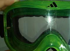 Soaked lens Adidas Pinner (mtbboy1993) Tags: downhill goggle mtb adidas pinner limegreen green sweat foam