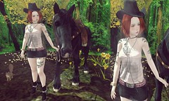 CowGirl (Little Kawaii SL) Tags: life horse hat japan asian designer fenix second cowgirl lc iconic zenith sys clothings caligula maitreya somemore