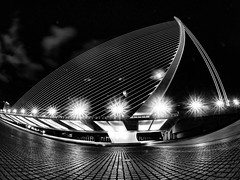 Bridge of Calatrava (stefan.lafontaine) Tags: bw white black blanco valencia long exposure noir nightshot y time negro olympus et weiss blanc schwarz em1 skancheli