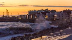 DSC_0238 (sergeysemendyaev) Tags: sunset sea storm beach spring warm waves russia dusk adler atthebeach seashore blacksea seacoast bigwaves sochi  2016                 duringf1 1 duringformulaone