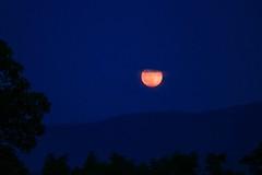Strawberry Solstice Moon - Explored 6/22/16! (SueZinVT) Tags: solstice moon solsticemoon vermont moonrise supermoon mountains shadows silhouettes