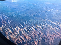 Zion Canyon makes an appearance on the extreme left hand side (Matt McGrath Photography) Tags: utah unitedstates hurricane flight aerial zionnationalpark americanairlines windowseat zioncanyon eastforkofthevirginriver