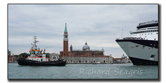 Out to Sea (seagr112) Tags: venice italy boat europe lagoon cruiseship tugboat tug venezia sangiorgiomaggiore