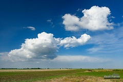 Dunlap Clouds (kevin-palmer) Tags: blue sky white green field grass weather clouds illinois spring afternoon may farmland cumulus dunlap circularpolarizer 2016 tamron2470mmf28 nikond750