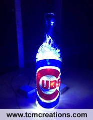 Chicago Cubs (TCM Creations) Tags: chicago glass lamp bar major illinois bottle pub wine baseball vinyl led cubs decal league mlb mancave