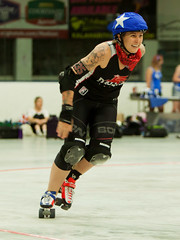 IMG_2602 (clay53012) Tags: womens flat track roller derby wftda derby flat track madison mrd league bout jammer jam team skate hartmeyer ice arena moocon2016
