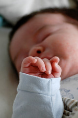 Tiny fingers (gornabanja) Tags: family sleeping baby nikon infant hand d70 fingers daughter newborn asleep