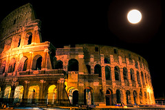 Colosseum Night (beelzebub2011) Tags: italy rome night fullmoon colosseum