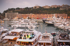 After the on-track action, action of a different kind takes place... (God_speed) Tags: cruise money water fun boats one ship power harbour yacht grand monaco prix formula carlo monte wealthy ville wealth principality