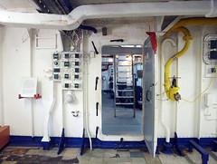 Diamantina corridor 3 (PhillMono) Tags: heritage history museum empty navy corridor australia olympus brisbane maritime memory queensland dslr frigate emptiness warship e30 diamantina hmas