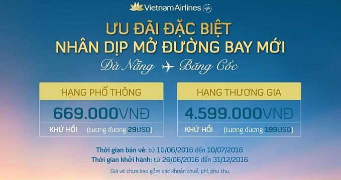 Đường bay thẳng Đà Nẵng – Bangkok