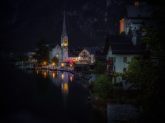 A piece of Austria (karinavera) Tags: longexposure travel lake reflection tourism water night landscape photography austria town reflex sterreich tiny longexpousre hallstatt hallstadt nikond5300