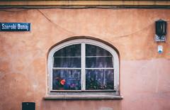 The Wide Danube Street (freyavev) Tags: street flowers urban detail window lamp 50mm fenster streetsign poland polska warsaw curtains prozor warschau dunaj poljska varsava szeroki vsco pinkfacade