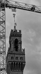 Ready to lift (thesilvercitizen) Tags: building architecture florence blackwhite cityscape crane lion lifting