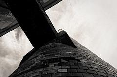 mind the gap (fallsroad) Tags: chimney blackandwhite bw building brick abandoned architecture industrial factory decay smokestack okmulgeeoklahoma nikond7000 kistpeanutplant