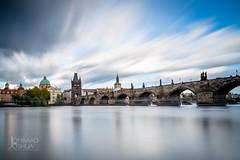 Prague, Charles Bridge-JLombard (joshualombard) Tags: sun river prague cloudy medieval czechrepublic cz charlesbridge