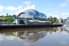 The Sage reflected (Halliwell_Michael ## More off than on this week #) Tags: city blue reflection water sport reflections landscapes spring cities tynebridge northumberland rivers springtime newcastleupontyne rivertyne thesage nikond40x