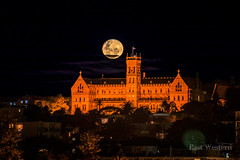 Solstice Moon (East Western) Tags: winter moon st strawberry mask cathedral manly sydney australia full explore solstice wharf patricks seminary hdr northernbeaches