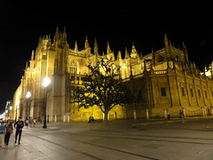 2016 04 24 080 Cathedral and around, Seville (Mark Baker, photoboxgallery.com/markbaker) Tags: city urban night photo spring sevilla spain europe european baker cathedral outdoor mark union catedral eu seville andalucia photograph april 2016 picsmark