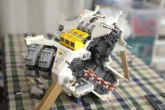 Still Building... (Blake Foster) Tags: lego spaceship moc afol microscale