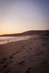 Footsteps (emmmmpai) Tags: footsteps beach shore coast waves california dana point danapoint people portrait cliffs beautiful summer colorful sunset dawn nature outside outdoors