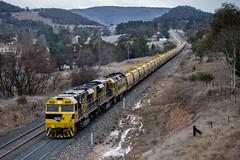 "2016-06-24 SSR SSR102-SSR101-G514 Marrangaroo 4843 (Dean ""O305"" Jones) Tags: cold train wheat au main grain australia frosty line nsw western newsouthwales 4843 marrangaroo g514 ssr102 ssr101"