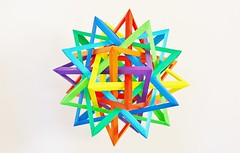 Eight Interlocking Tetrahedra #2 (Aaron P.) (Byriah Loper) Tags: paper origami polygon paperfolding polyhedron origamimodular byriahloper