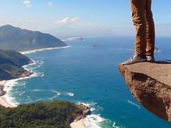living on the edge (Photos by Sachin) Tags: travel brazil cliff southamerica rio riodejaneiro standing living legs cliffs wanderlust adventure climbing rockclimbing thrill cliffhanger livingontheedge standingontheedge