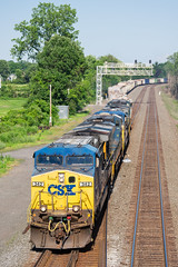 CSXT Q371 @ Savannah, NY (Mathieu Tremblay) Tags: railroad newyork water electric train unitedstates general sony railway rochester route level locomotive savannah ge chemin fer csx subdivision csxt ac44cw a99 ac4400cw sal70300g