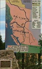Highway 16, Sign, Weneez, BC (SwellMap) Tags: architecture vintage advertising design pc 60s fifties postcard suburbia style kitsch retro nostalgia chrome americana 50s roadside googie populuxe sixties babyboomer consumer coldwar midcentury spaceage atomicage