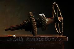 Primary Gear Cluster of the Warthorp Time Machine (Studio d'Xavier) Tags: stilllife teeth gear gears cog strobist werehere seriesiialandrover warthorptimemachine primarygearcluster