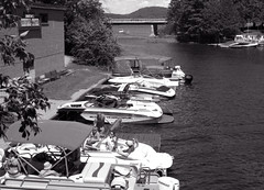 Moored in the Dorset Narrows_ (Bill Smith1) Tags: billsmithsphotography canonf1n dorseton fdn50f14lens hc110b ilforddelta100 july2016 lakeofbays muskoka filmshooterscollective