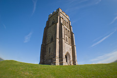 Glastonbury Tor in the Sunshine (Alexander Jones - Documentary Photography) Tags: england west tower saint st landscape photography nikon south documentary glastonbury somerset fisheye af tor michaels 020 mendips opteka d3000