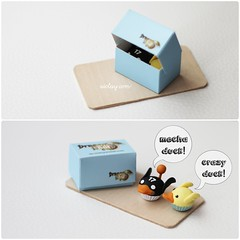 Little cupcakes disguised as ducks. (AiClay) Tags: cake miniature duck dragon nest cupcake clay mecha polymer