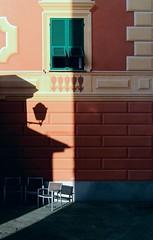 Angolo conversazione (meghimeg) Tags: light shadow sun lamp facade chairs ombra sole sedie luce lampione santamargherita facciata 2013
