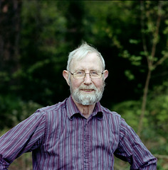 Dad. (Daire Quinlan) Tags: birthday portrait colour 120 6x6 mediumformat happy dad kodak sunday s sean f45 mum bronica 400 mf sq portra sqa quinlan c41 150mm sqai maev